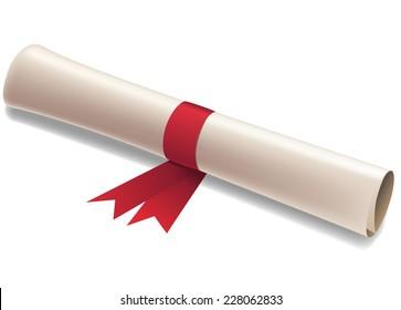 Diploma vector illustration.