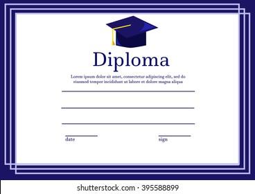diploma/certificate template,