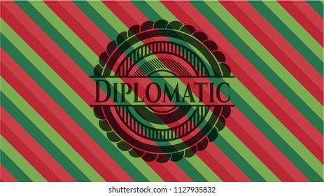 Diplomatic christmas emblem background.