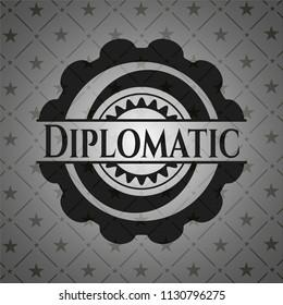 Diplomatic dark badge