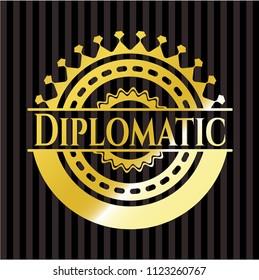 Diplomatic gold badge or emblem