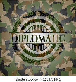 Diplomatic on camouflage pattern