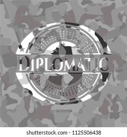 Diplomatic on grey camo texture