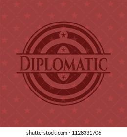 Diplomatic red emblem