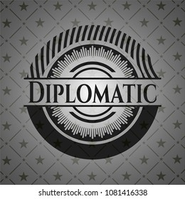 Diplomatic retro style black emblem