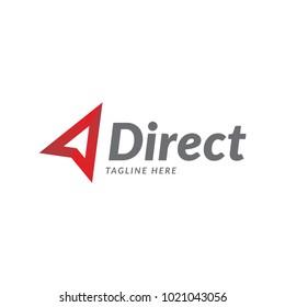 direct business arrow logo icon vector template