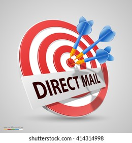 Direct mail target, Dart icon, Vector illustration