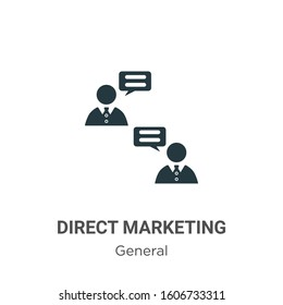 Direct marketing glyph icon vector on white background. Flat vector direct marketing icon symbol sign from modern general collection for mobile concept and web apps design.