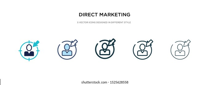 direct marketing icon in different style vector illustration. two colored and black direct marketing vector icons designed in filled, outline, line and stroke style can be used for web, mobile, ui