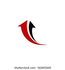 Direction Arrow Icon Logo Vector