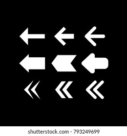 Direction arrow sign set