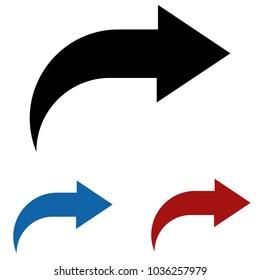 curved arrow vector stock vectors images vector art shutterstock rh shutterstock com curved double arrow vector curved arrow vector png
