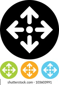 Direction arrows - Vector icon isolated