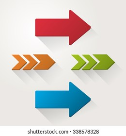 Direction concept with arrow design, vector illustration 10 eps graphic.