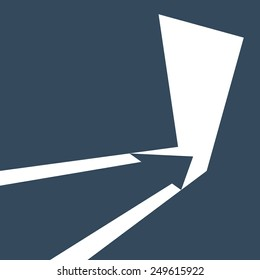 Direction For the Entrance and Exit, Input and Output. Arrow Indicates the Direction of Move.Vector illustration