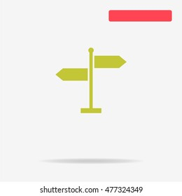 Direction sign icon. Vector concept illustration for design.