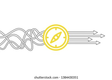 Direction Solution Concepts on White Background