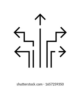 Directions line icon, concept sign, outline vector illustration, linear symbol.