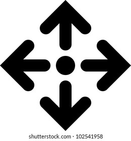 Directions - Vector icon isolated