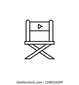 director chair icon. Element of video products outline icon for mobile concept and web apps. Thin line director chair icon can be used for web and mobile