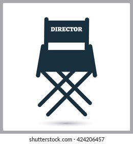 Director chair icon on the background