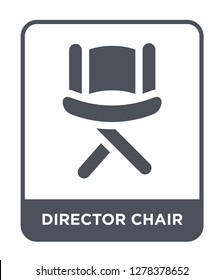 director chair icon vector on white background, director chair trendy filled icons from United states of america collection, director chair vector illustration