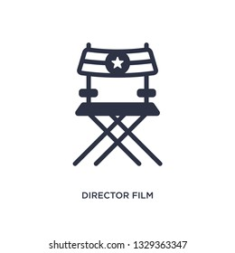 director film chair icon. Simple element illustration from cinema concept. director film chair editable symbol design on white background. Can be use for web and mobile.