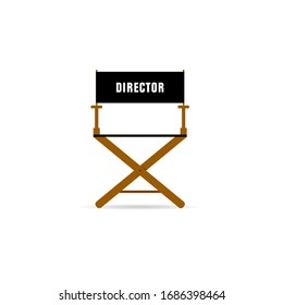 director movie chair illustration in color