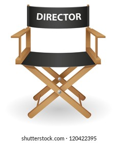 director movie chair vector illustration isolated on white background