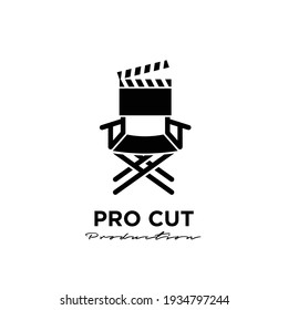 the director Studio Movie Video Cinema Cinematography Film Production logo design vector icon illustration Isolated White Background