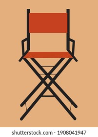 director's chair icon flat design editable eps vector illustration to film production and film making from studio cinematography directors of film industry set