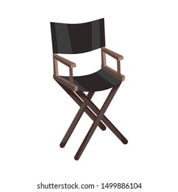 Directors chair. Vector illustration on a white background.