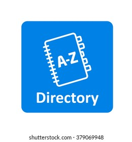 Directory book icon for web and mobile