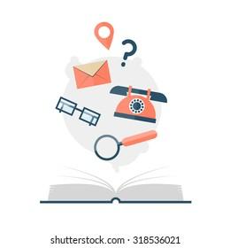 Directory flat design vector illustration.