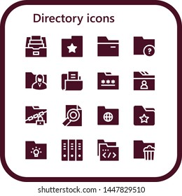 directory icon set. 16 filled directory icons.  Simple modern icons about  - Folder, Folders