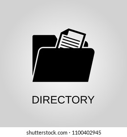 Directory icon. Directory symbol. Flat design. Stock - Vector illustration