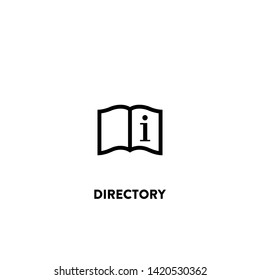 directory icon vector. directory sign on white background. directory icon for web and app