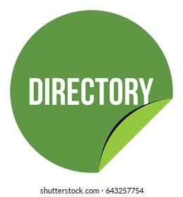 Directory Label Logo Vector Template