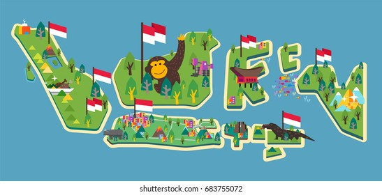 Dirgahayu Indonesia. vector illustration