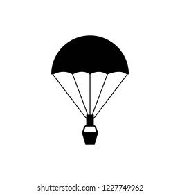 Dirigible and hot air balloons airship. Tools of Aeronautics such as the airship and the balloon to move the delivery by air of goods and people. Air ballon monochrome icon vector.