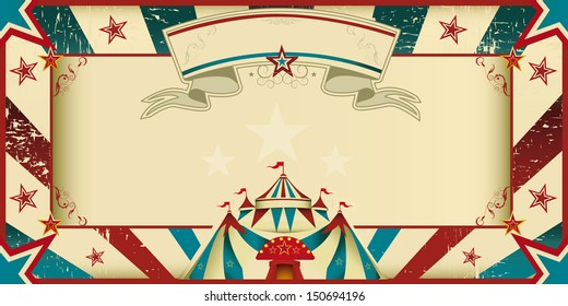dirty circus invitation. An invitation card for your circus company.