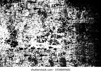 Dirty grunge background. The monochrome texture is old. Vintage worn pattern. The surface is covered with scratches