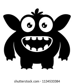 A dirty horrible creature with horns and teeth, germ monster