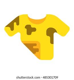 Dirty shirt vector illustration.