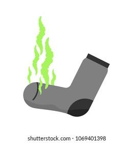 Dirty sock. Unpleasant smell. Stink. Green fetid cloud. Stinky sock.