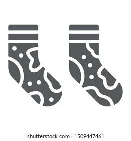 Dirty socks glyph icon, laundry and wardrobe, smelly socks sign, vector graphics, a solid pattern on a white background, eps 10.