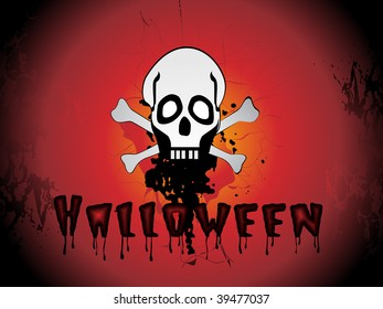 dirty texture background with skull, bone illustration
