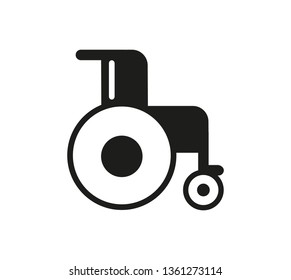 Disability icon vector. Disabled vector graphic illustration - Vector