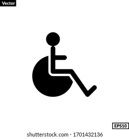 disability sign for any purposes. wheelchair icon vector