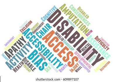 disability word cloud typography